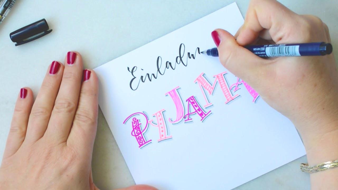 Einladung Fur Eine Pyjama Party Katja Haas Papierliebe