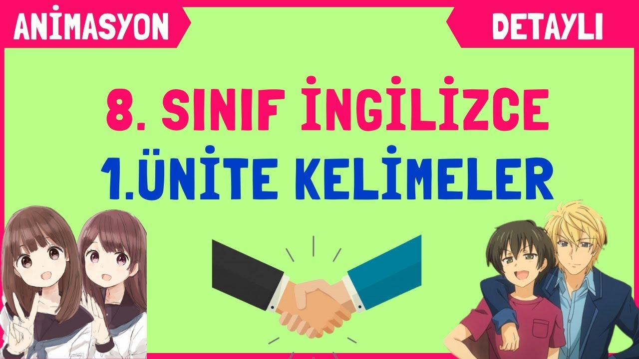 8. SINIF İNGİLİZCE 1. ÜNİTE KELİMELER VE TEST | FRIENDSHIP