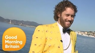 t j miller talks about the emoji movie at cannes   good morning britain