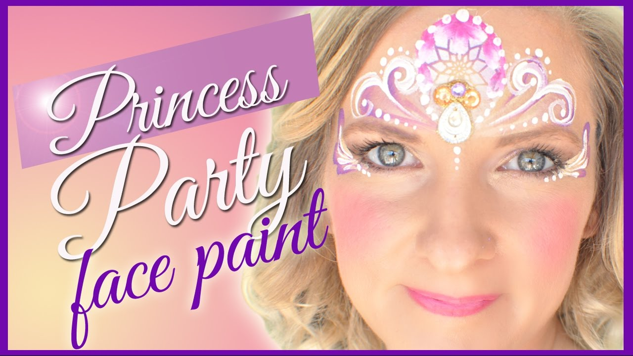 princess party face painting youtube