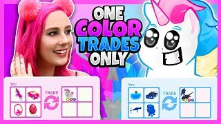 MeganPlays Challenged Me to a ONE COLOR ONLY Trade Challenge in Adopt Me! Roblox Adopt Me Trading