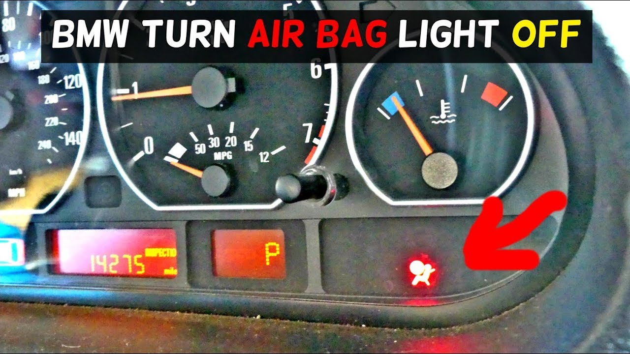 HOW TO TURN AIR BAG LIGHT OFF ON BMW  AIRBAG LIGHT RESET