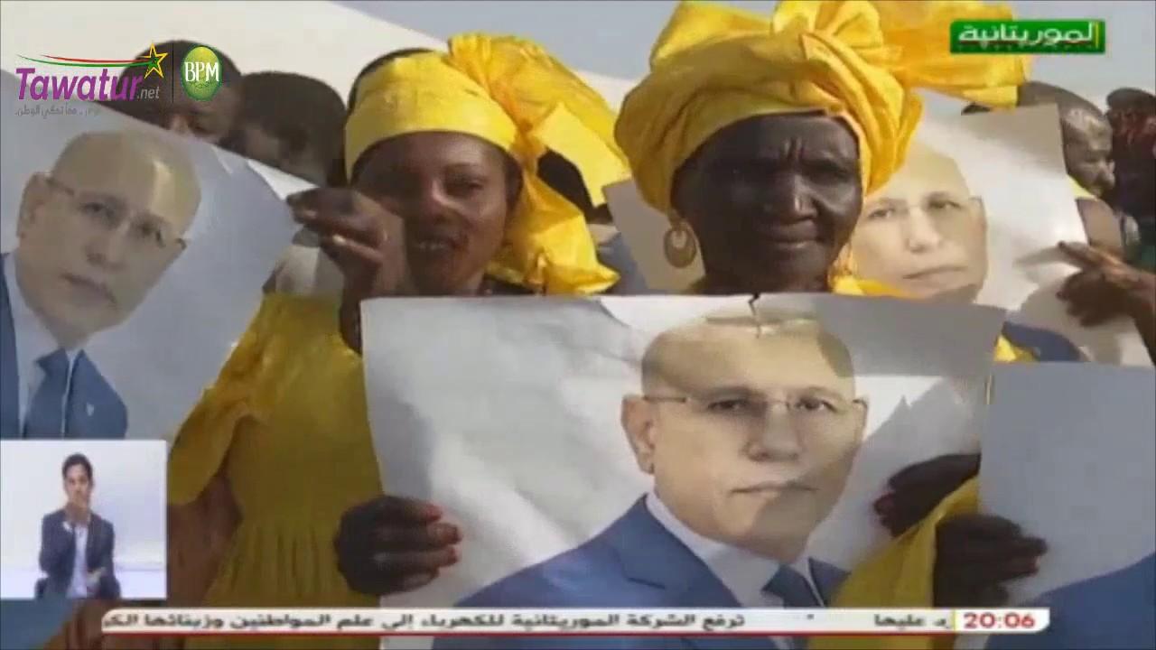 تغطية قناة الموريتانية لزيارة رئيس الجمهورية  محمد ولد الشيخ الغزواني لمدينة روصو