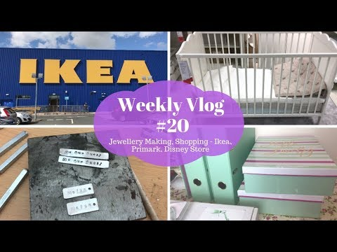 weekly vlog #20 - Jewellery making, Shopping - Primark, Disney Store & Ikea