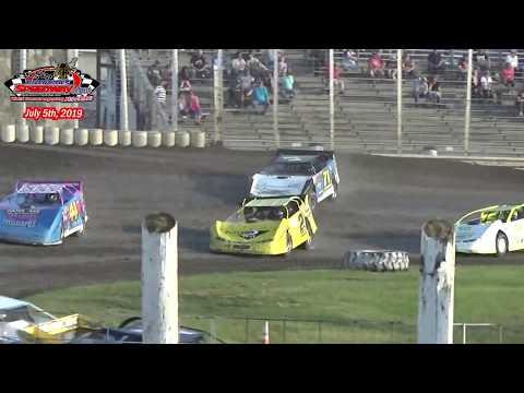 River Cities Speedway WISSOTA Late Model Heats (7/5/19)