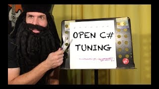 """guitar lesson: how to tune your guitar to """"open c#"""" tuning (for tomorrow's song, of course)"""