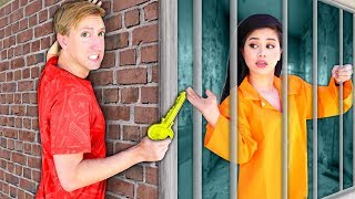 I BREAK INTO PRISON TO RESCUE VY & PZ4 HACKER GIRL! We Escape Trap via Underground Tunnel!