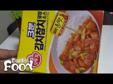 오뚜기 3분 김치참치 덮밥 소스 매운맛, 마트에서 구입한 3분요리 소스 시식기