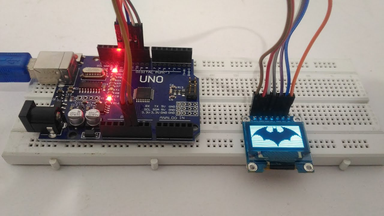 SSD1306 OLED Display Interfacing with Arduino Uno by Circuit Digest