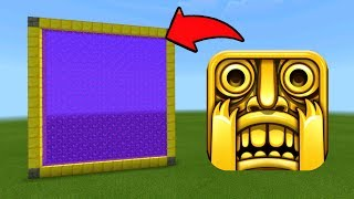 Minecraft Pe How To Make a Portal To The Temple Run Dimension - Mcpe Portal To Temple Run!!!