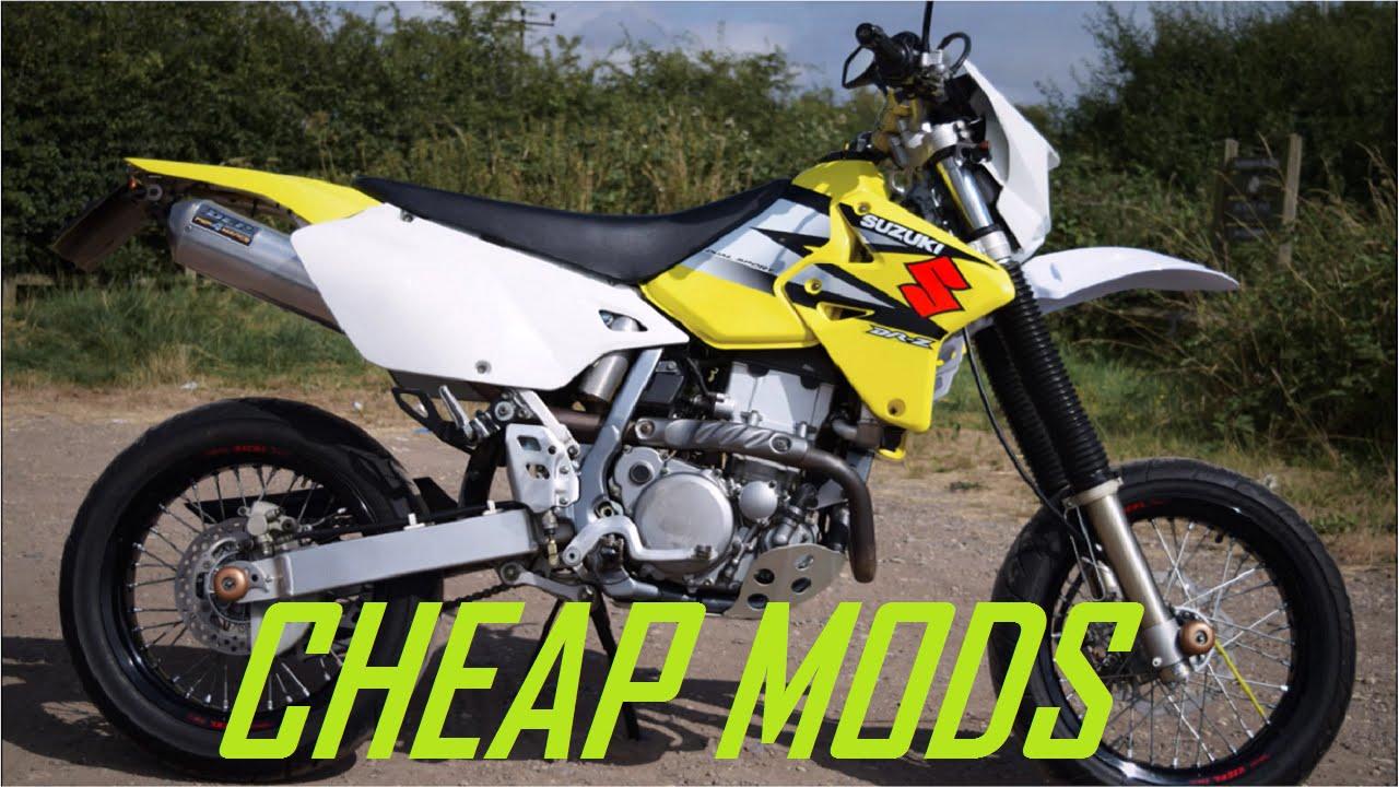 Cheap Supermoto Modifications / Mods #1 (Suzuki DRZ400)