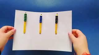 Математический тренажёр из подручных материалов.