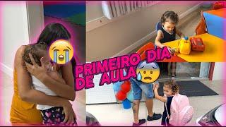 PRIMEIRO DIA DE AULA DA LAURINHA | Foi muito difícil