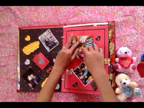 how to make a simple scrapbook for boyfriend
