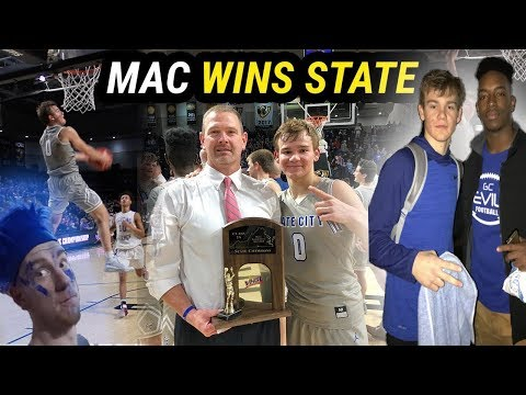 MAC MCCLUNG 47 POINTS + CRAZY DUNKS IN STATE CHAMPIONSHIP! | MOST LIT STUDENT SECTION VLOG EVER🔥