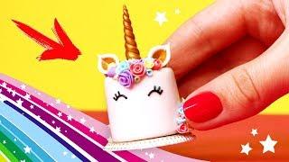 🌟 ТОРТ ЕДИНОРОГ для КУКОЛ 💖UNICORN CAKE DIY 🦄🦄🦄 Еда из FIMO!  Мастер класс Анна Оськина