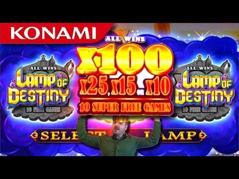 100X BONUS ROUND! Lamp of Destiny Slot Machine Bonuses& JACKPOT BALL Features - 동영상