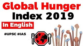 Global Hunger Index 2019, India ranks 102 out of 117 countries, Current Affairs 2019 #UPSC2020 #IAS