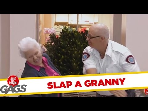 Granny Gets Slapped In The Face