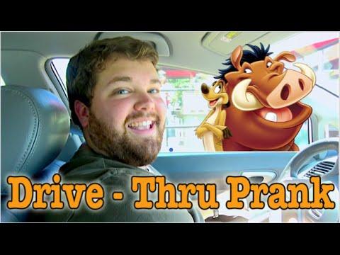 Timon and Pumbaa at the Drive Thru - Impression Prank