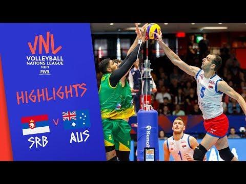 SERBIA Vs. AUSTRALIA -  Highlights Men | Week 2 | Volleyball Nations League 2019