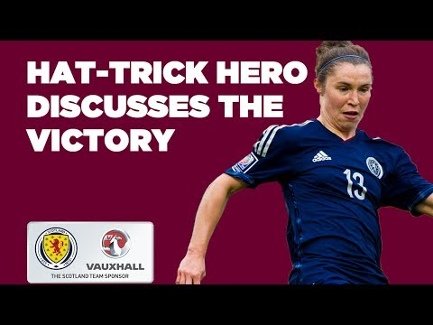 Reaction from hat-trick hero Jane Ross // Bosnia 1-3 Scotland
