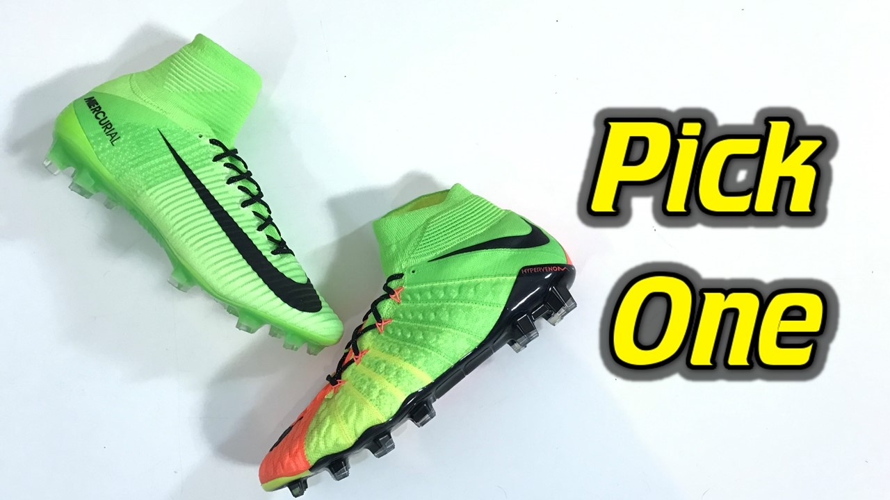 buy popular 16349 8bd02 Pick One - Nike Mercurial Superfly 5 vs Hypervenom Phantom 3