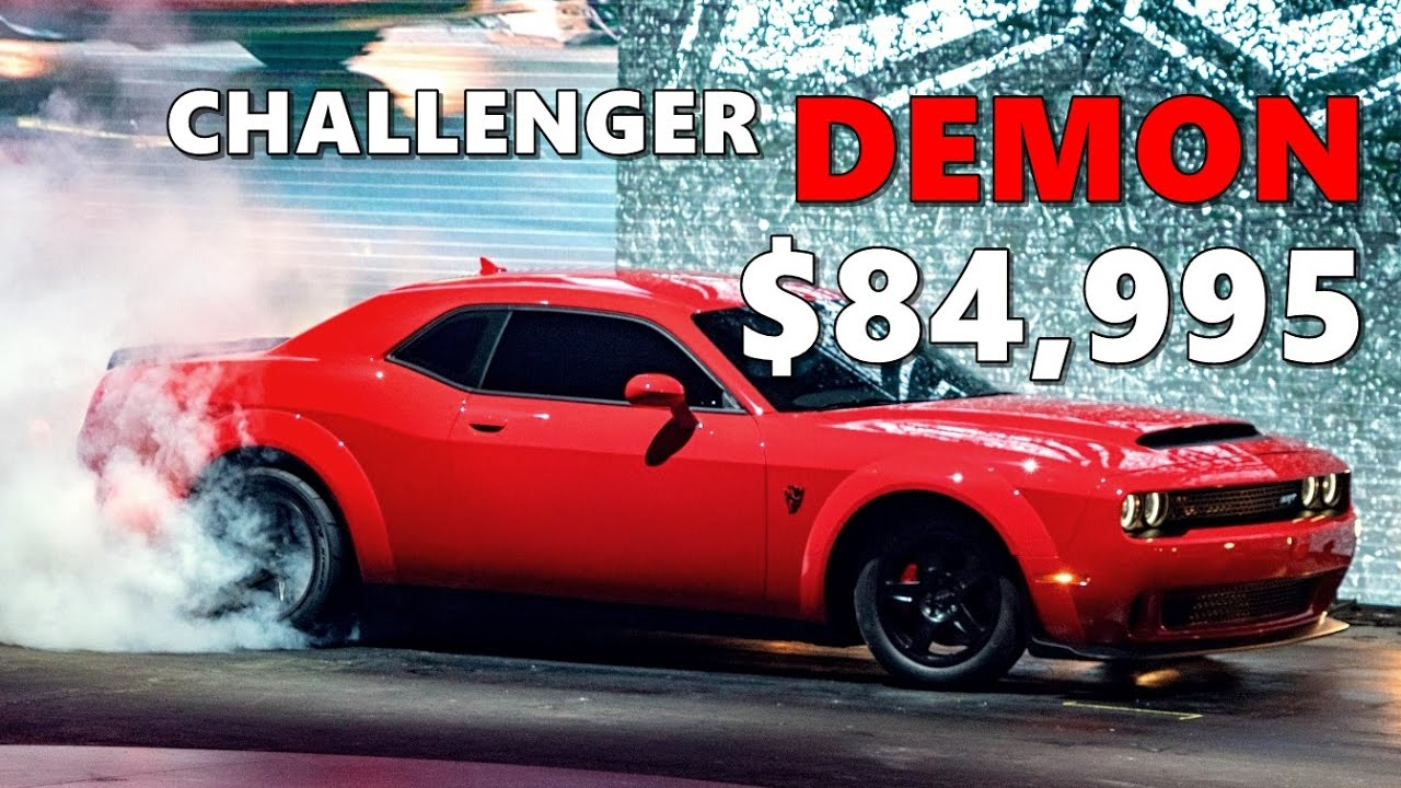 New Dodge Demon Price >> Dodge Challenger Demon Pricing And Options
