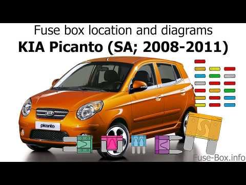 Fuse box location and diagrams: KIA Picanto (SA; 2008-2011 ... Kia Picanto Fuse Box Layout on display box layout, battery box layout, circuit breaker box layout, panel box layout, control box layout,