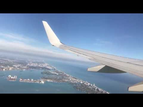 American 737-800 Morning Takeoff From Miami International Airport