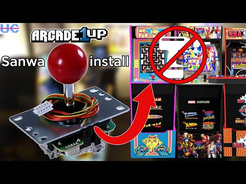 How to Install Sanwa Joystick in ANY Arcade1up: Step by Step Instructions and Easy Mod from Unqualified Critics