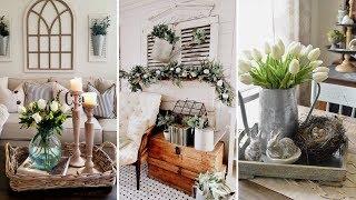 ❤DIY Farmhouse style Spring living room decor Ideas❤ | Easter home decor| Flamingo Mango