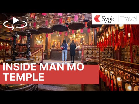 360 video: Inside Man Mo Temple, Hong Kong, China