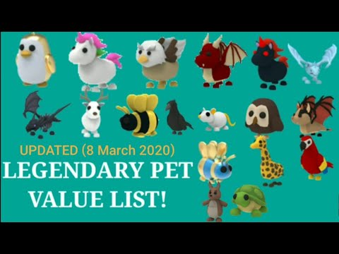 Outdated Legendary Pet Value List Read Description Pinned Comment Youtube