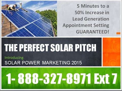 The Perfect Solar Pitich Increases Solar Sales by 50%