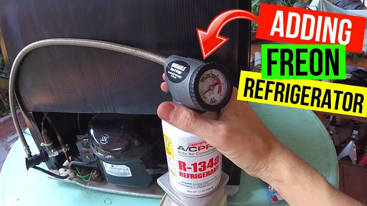 How To Correctly Add Freon to your Refrigerator R134a -Jonny DIY