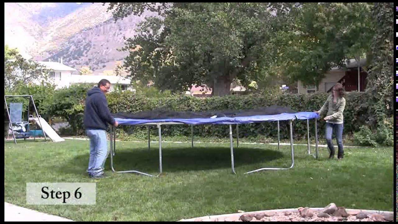 Skywalker Trampolines 14 Ft  Round Trampoline Assembly Video