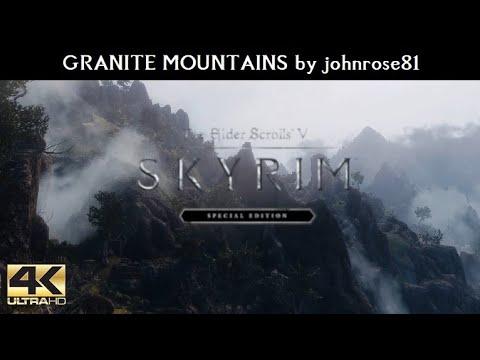 SKYRIM SE MODS - Granite Mountains By Johnrose81 | Ultra Modded Realistic Next Gen Graphics [4K]