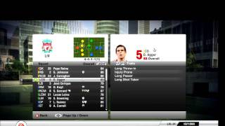 FIFA 12 Liverpool Player Ratings + Traits