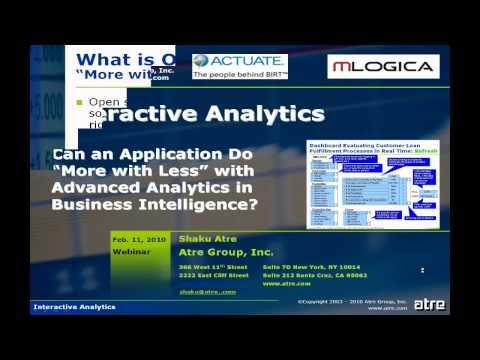 BIRT Interactive Analytics - Part 1 of 6