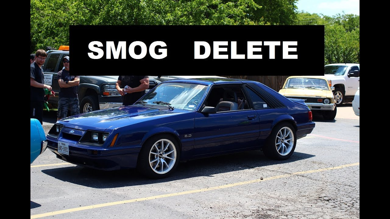 1986 Mustang Gt Project Smog Pump Delete Youtube