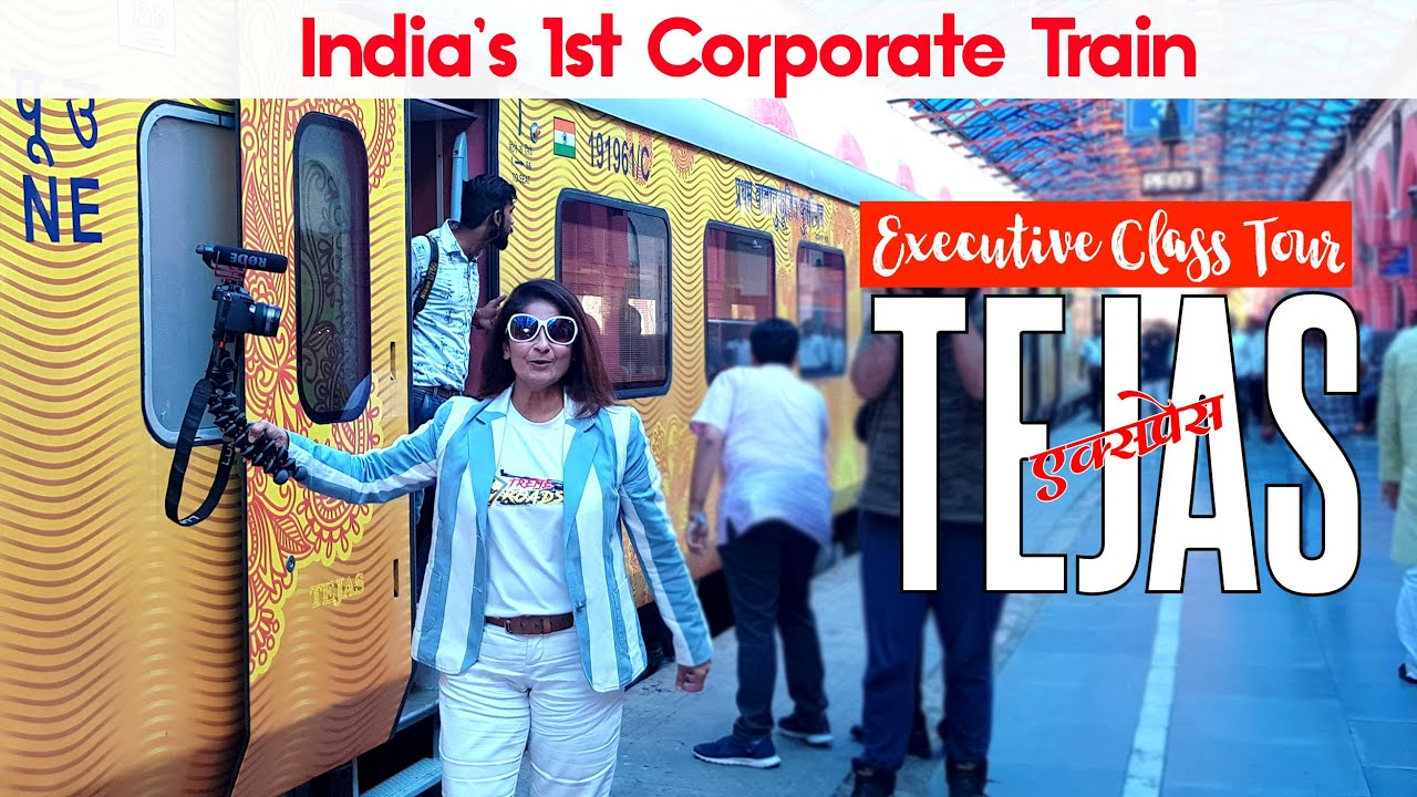 IRCTC Tejas Exp. India's 1st Private Train | Executive Class Full Tour | LJN -NDLS Tejas Train