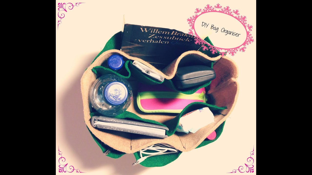 Diy bag organizer youtube diy bag organizer solutioingenieria Choice Image