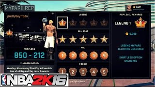 NBA 2K16  FINALLY A MyPark LEGEND!!! The King is BACK!- Prettyboyfredo