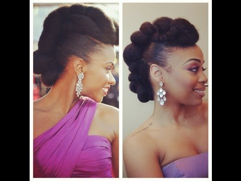 Redcarpet Ready Natural Hair Updo Inspired By Teyonah Parris