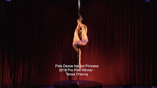 Pole Dance Ireland Princess Competition 2018 Pro Winner - Tanya Cheung