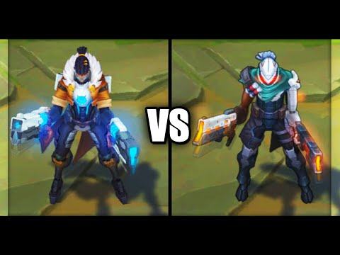 Pulsefire Lucian vs PROJECT Lucian Epic Skins Comparison (League of Legends)