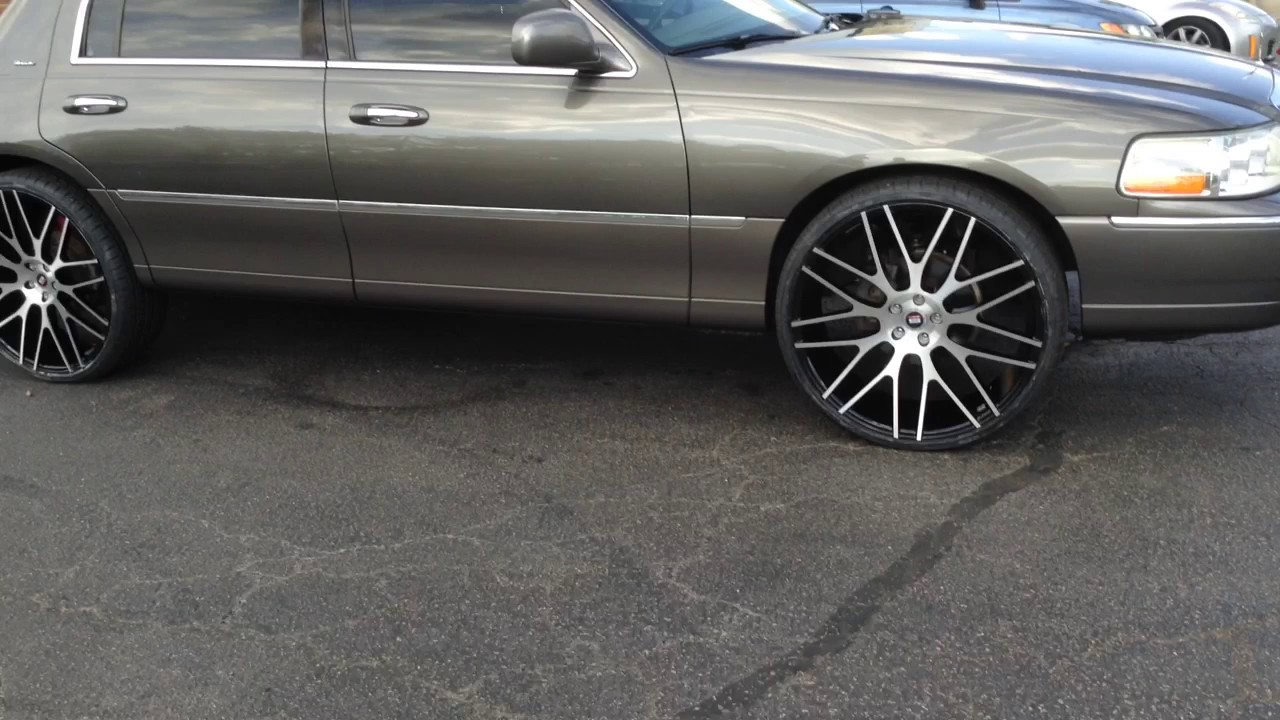 2004 Lincoln Towncar Sitting On 24 Spec 1 Spl 001 Wheels With 255