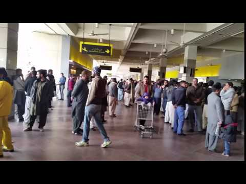 ISLAMABAD Airport Arrival waiting point for visitors