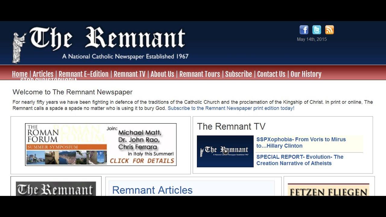 Résultats de recherche d'images pour «the remnant newspaper»